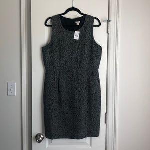 Pleated Tweed Dress